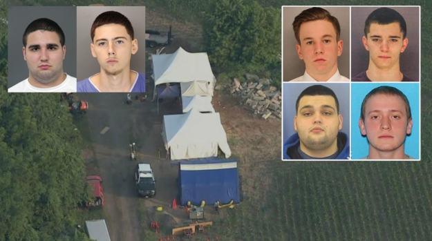 Dozens continue searching Bucks County property in hunt for four missing men