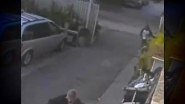 Surveillance  Video: Armed Man Robs Gardener