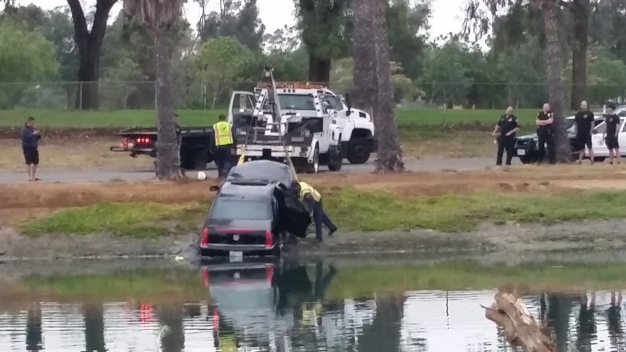 Cadillac Driver Plunges Into Long Beach Lagoon