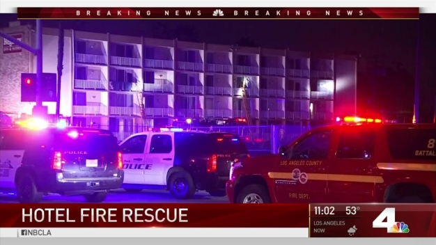 9 Treated for Smoke Inhalation After Hotel Fire