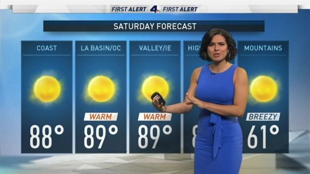 AM Forecast: Warm and Sunny Saturday