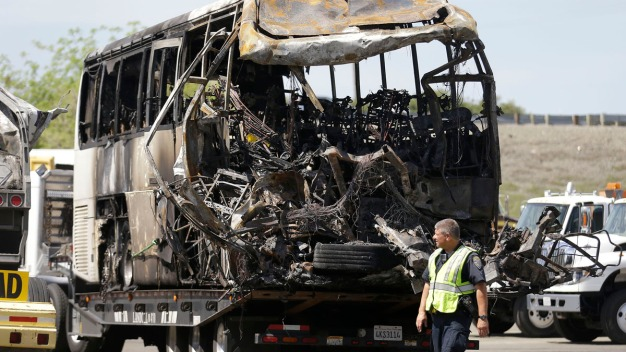 Feds Urge Bus Safety Rules After Deadly CA Crash
