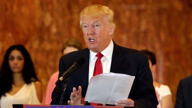 Trump Details Donations to Veterans' Charities