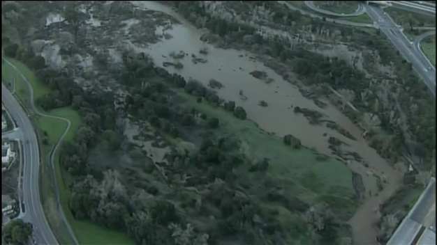 Aerial Video: Flooding in San Jose