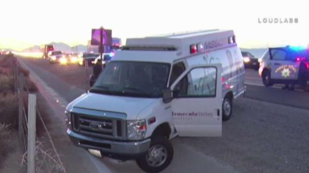 Bizarre Police Pursuit of Suspected Stolen Ambulance Ends in Hesperia