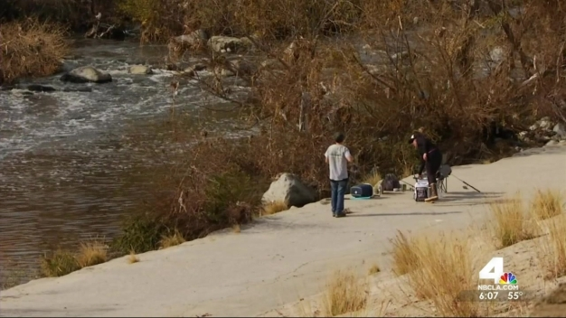 Barriers Being Built Along LA River for El Niño Threat