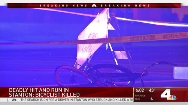 Bicyclist Killed in Hit-and-Run Crash in Stanton