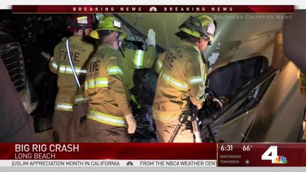 Big Rig Crash on 710 Freeway
