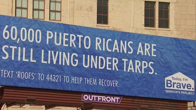 Billboard Goes Up in Hollywood in Support of Maria Victims