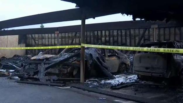 More Than 20 Cars Destroyed in Highland Park Carport Fire