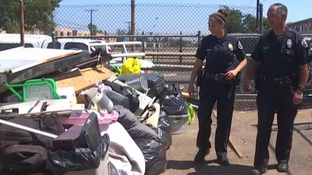 4OurHeroes: Officer Cleans Trash Around Elementary School