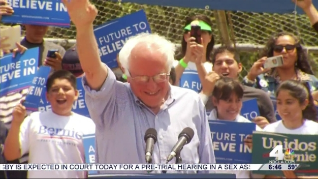 Clinton, Sanders Campaign in SoCal Ahead of State Primary Battle