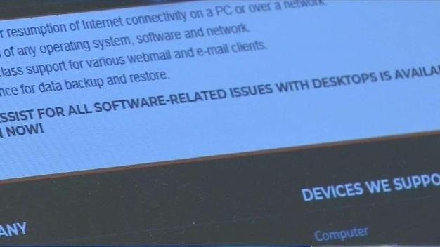 Computer Tech Support Warning
