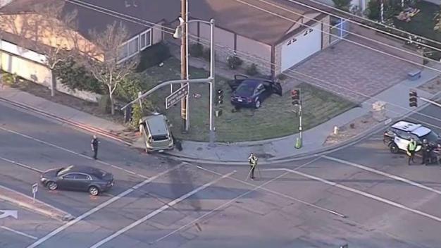 Crossing Guard Killed in 3-Car Crash Near Elementary School in Simi Valley