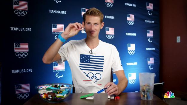 Kevin Bickner Explains Ski Jumping With Legos}