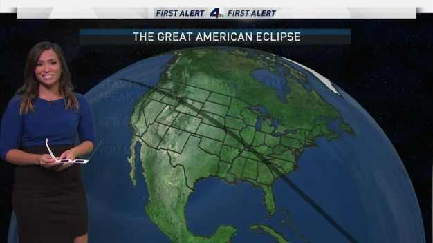 LA Forecast for the Total Solar Eclipse