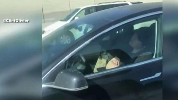 Driver in Self-Driving Car Caught Sleeping Behind Wheel