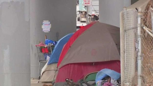Families Worried by Growing Homeless Encampment Near School