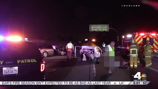 Fatal Crash Causes Lane Closures on 105 Freeway