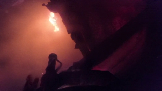 Firefighter's Helmet Cam Captures Daring Rescue