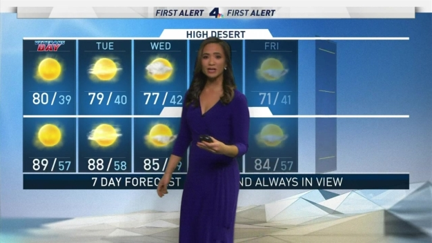 First Alert Forecast: Highs in the 70s and 80s