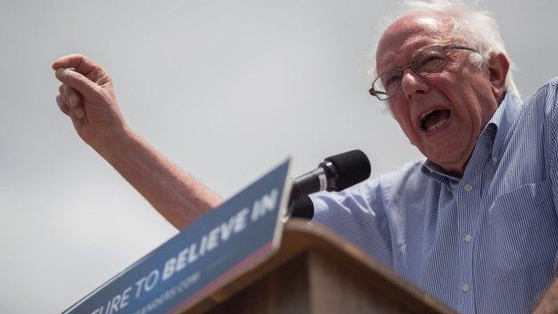 Sanders Holds Rallies in Ventura, Pomona