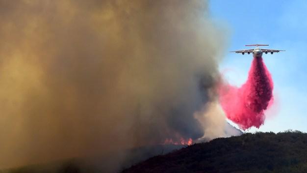 Firefighters Slow Sand Fire's Spread