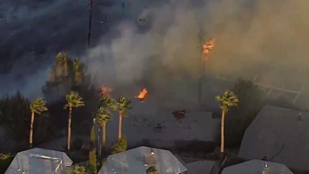 Little Mountain Fire Burns Homes in San Berardino Area