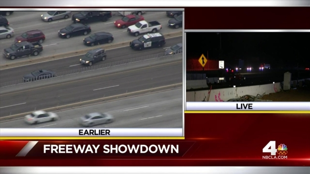Man Arrested After Freeway Standoff