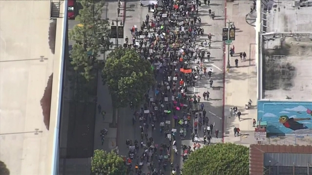 Watch: March for Our Lives From Above Downtown LA