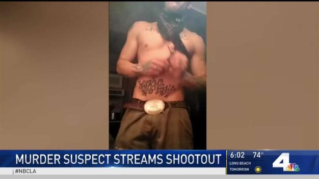Murder Suspect Live-Streams Shootout