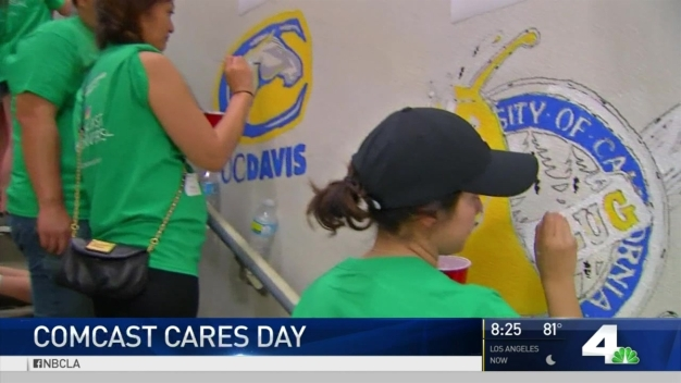 NBC4 Takes Part in Comcast Cares Day