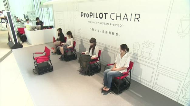 Nissan Unveils Self-Driving Chair for Waiting in Line