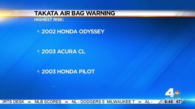 New Warning on Takata Air Bags