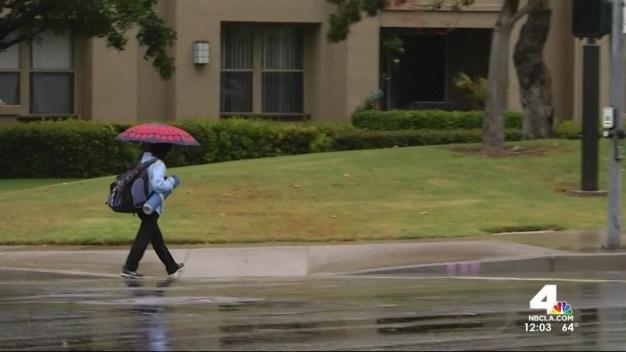 Rain Douses Orange County