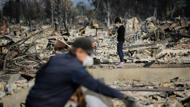 As Crews Gain Ground, Some Fire Victims Return Home