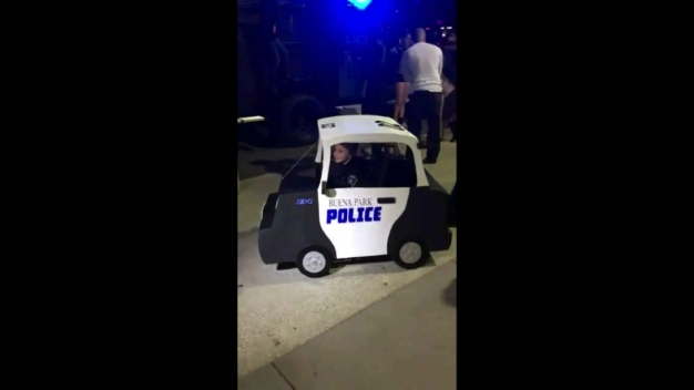 Police Build Boy Mini Police Car to Fit Around His Wheelchair