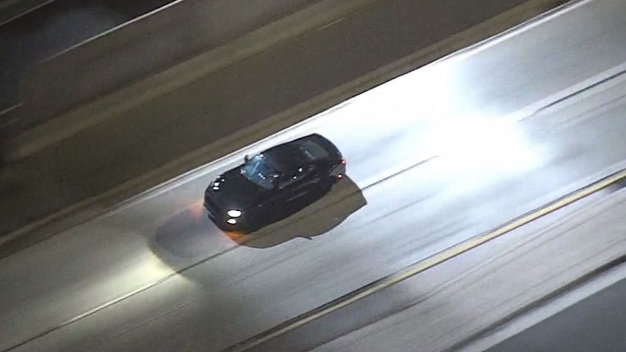 Police Pursuit of Black Mustang Travels From DTLA to East Pasadena