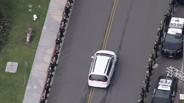 Procession for Whittier Officer Killed in Line of Duty