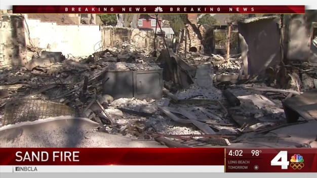 Residents Worried That Homes Won't Be Standing After Sand Fire