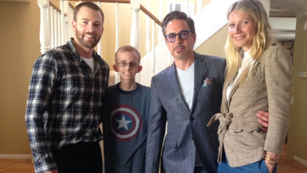 Avengers Stars Visit Grossmont HS Student