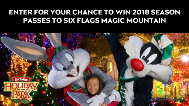 Six Flags Magic Mountain Holiday in the Park 2017 Sweepstakes