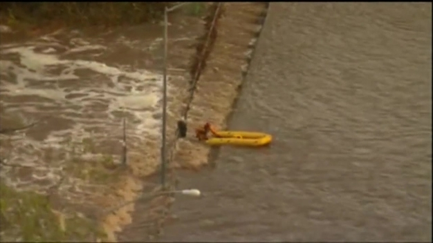 Watch: Rescuers Save Man Trapped by San Diego Floodwater