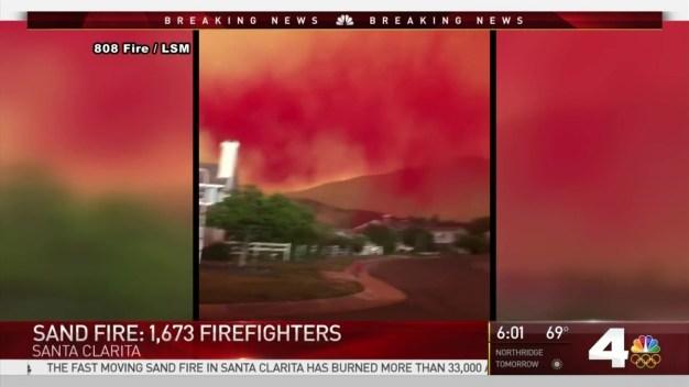 Sand Fire Threatens Homes