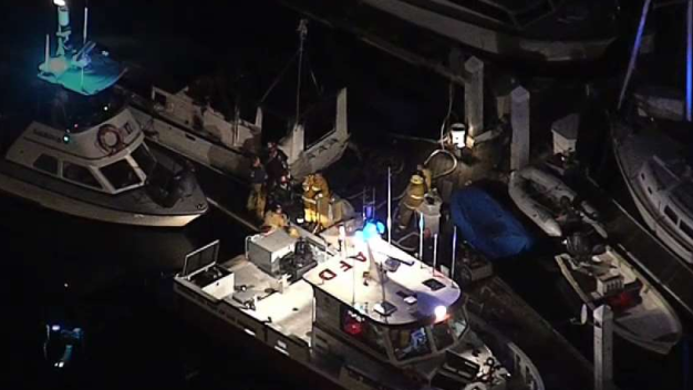 Woman Found Dead Aboard Burning Boat at Terminal Island