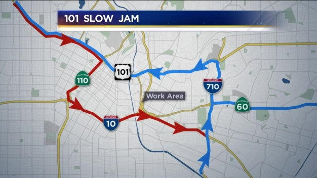 Friday, Noon Update: 101 Freeway SlowJam