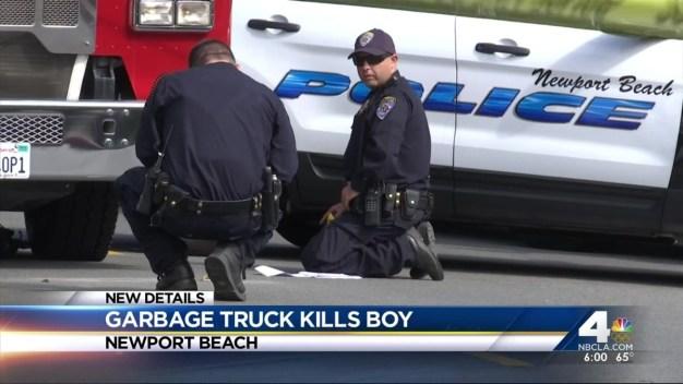 Trash Truck Kills Boy in Newport Beach