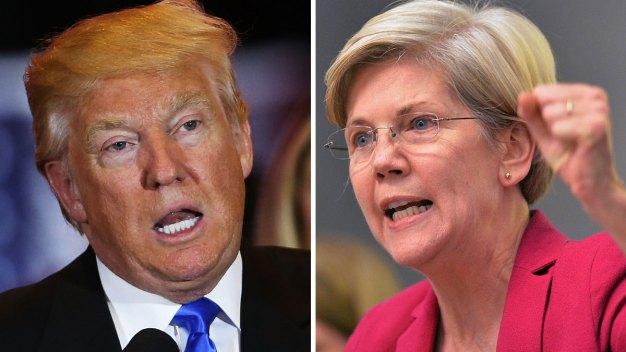 Elizabeth Warren Calls Trump a 'Small, Insecure Moneygrubber'