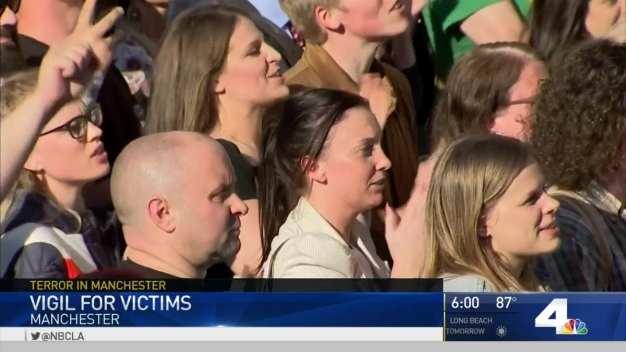 Vigil Held for Victims of Manchester Terror Attack