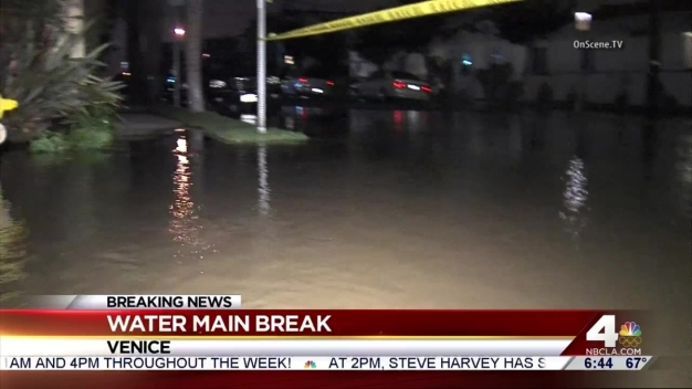 Water Main Break Floods Venice Neighborhood